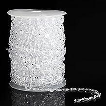 bodhi2000® 30m perles comme en cristal transparent par le rouleau pour fenêtre rideau Fond de mariage