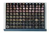 SAFE 6440 STAPELELEMENT MÜNZBOX MÜNZEN 12 x KOMPLETTE EURO KURSMÜNZENSÄTZE 1 CENT - 2 EUROMÜNZEN SCHRÄG GESTELLTE FÄCHER