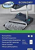 europe100 90921 - Hojas de transparencia para impresora y fotocopiadora láser (DIN A4, 100 hojas), transparente