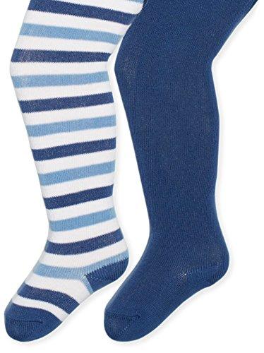 Twins Baby - Jungen Strumpfhose im 2er Pack, Gr. 56, Blau (blau 113)