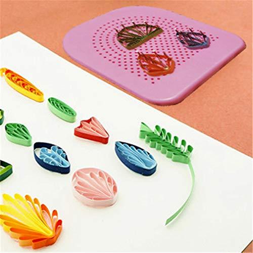 kemai The Quilters Grid Guide Quilling Board mit Pins Lagerung für Papierfalten Basteln Papier Büttenpapier Handwerk Werkzeug DIY Paper Tool -