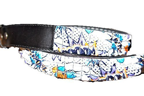 Zekke Boom Snap On Belt, emo punk Studded 3 Row graffiti cinghia spessa in pelle Bling nero Black M W 86,84- 97 cm