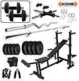 #10: KORE 50KG PVC COMBO 35 WB HOME GYM WITH 8 IN 1 MULTIPURPOSE BENCH
