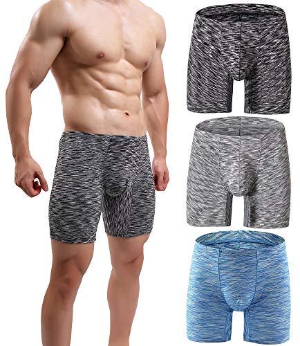 MAKEIIT Herren Unterwäsche, Baumwolle, Boxershorts, atmungsaktiv, gewölbte Tasche, niedrige Höhe, elastisch - - X-Small (Boxer Briefs Von Amazon Verkauft)