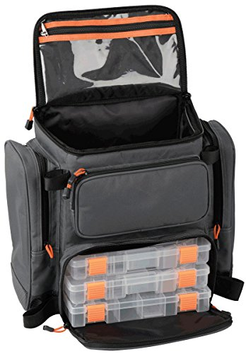 Savage Gear Lure Specialist Rucksack M 40x38x23cm mit 3 Angelboxen, Angelrucksack, Angeltasche zum Spinnfischen, Tasche fürs Spinnangeln, Anglerrucksack, Köderboxen