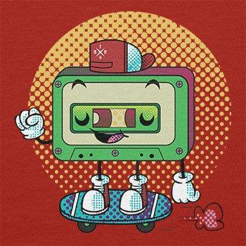 Texlab–Cool Cassette–sacchetto di stoffa Rot