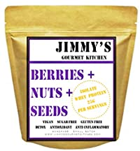 Jimmys Gourmet Kitchen Granola Cereal (Buy 2 get 1 Free) (All Berries & Maple Syrup) (Vegan Gluten Free)(500g x Pack of 3)