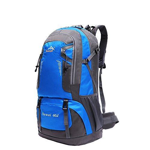 LJ Sport Unisex Outdoor Rucksack Trekkingrucksack Wanderrucksack Wasserdicht Rucksack für Bergsteigen Wandern Radfahren Blau