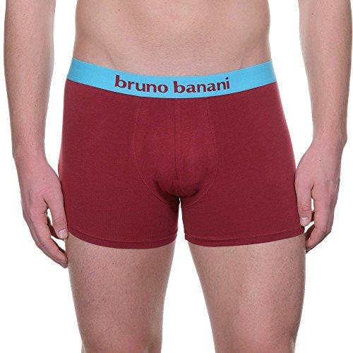 bruno banani Herren Shorts, 2er Pack Mehrfarbig (türkis// Bordeaux 2306)