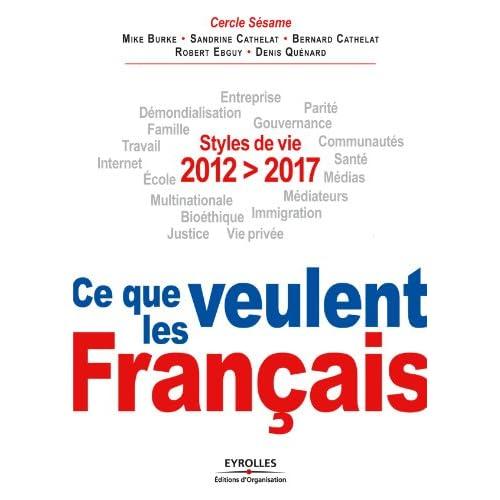 2012-2017, Ce que veulent les Français: Styles de vie. Entreprise, démondialisation, parité, famille, gouvernance, travail, communautés, Internet, santé, ... bioéthique, justice, vie privée