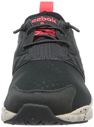 Reebok Furylite, Chaussons Sneaker Homme Vert  (Dark Sage/Silvery Green/Neon Cherry/Paperwht)