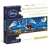 Clementoni - Puzzle disney panorama 1000 piezas mickey & minnie (39287)