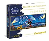 Clementoni 39287.2 - 1000 Disney Panorama Collection Mickey und Minnie, Klassische Puzzle