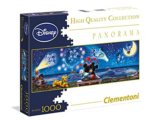 Clementoni - 39287.2 - Puzzle - Disney Mickey et Minnie - Panorama - 1000 pièces