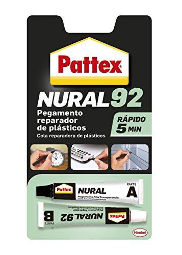 Pattex Nural 92, pegamento reparador específico para plásticos, 22 ml