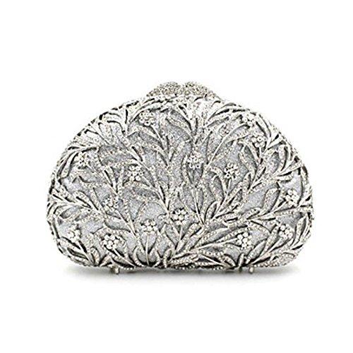 KYS Damen Abendtasche Metall Ganzjährig Alltag Veranstaltung / Fest Hochzeit Schminktäschchen Kristall/ Strass Metallic MagnetischGold Silver