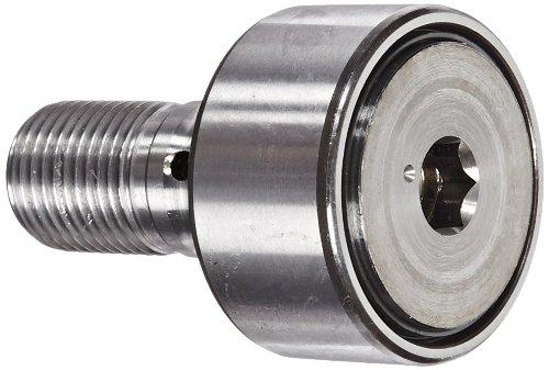 INA KR35PP Nockenfolger, Bolzenform, abgedichtet, metrisch, Stahl, 35 mm Rollendurchmesser, 18 mm Rollenbreite, 32,5 mm Bolzenlänge, 52 mm Gesamtlänge, 16 mm Stollendurchmesser