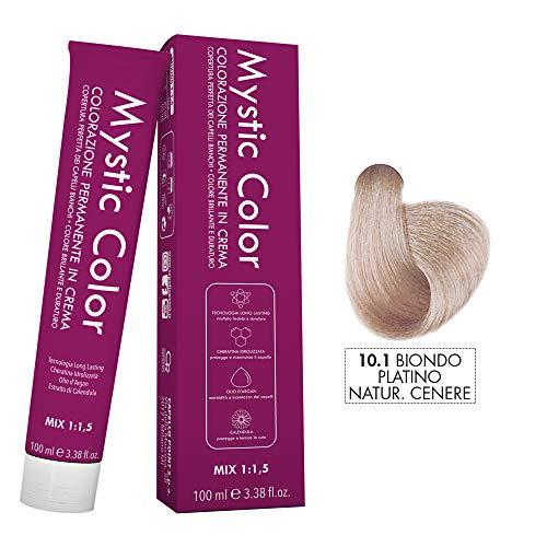 Mystic Color - Biondo Platino Cenere 10.1 - Colorazione Professionale Permanente in Crema con Olio di Argan e Calendula - Tinta per Capelli Long Lasting - 100ml
