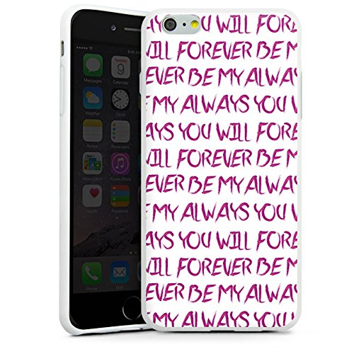 Apple iPhone X Silikon Hülle Case Schutzhülle Spruch Liebe Herz Forever Silikon Case weiß