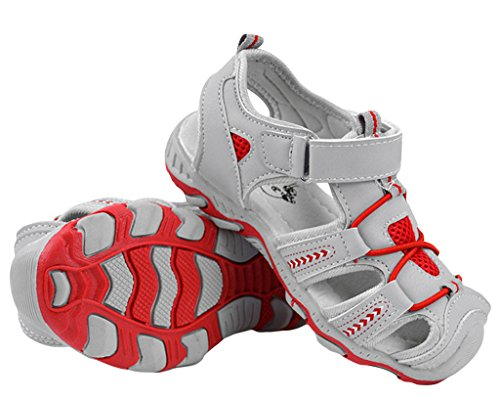 EOZY Kinder Geschlossene Sandalen Sport Lauflernschuhe Hellgrau