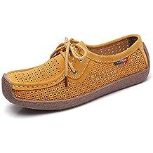 ZHZNVX Zapatos de Mujer Suede Spring & Summer Comfort/Mocasines Sneakers Flat Heel Coffee/