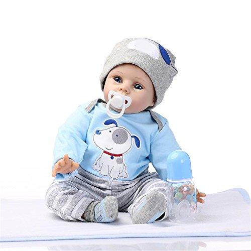 GAW Toys Silicone Reborn Dolls Großhandel Realistische Baby Boys Newborn Fashion Doll Christmas New Year Gift Urlaub Hochzeit Verringerung Angst Helfen Autismus Schwangere Frauen