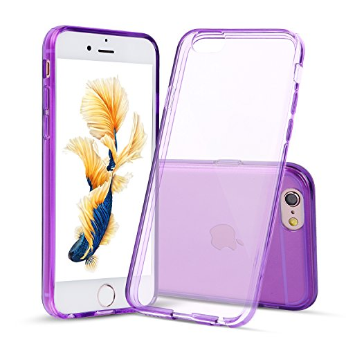iPhone 6s Plus Custodia, Shamos® [Crystal Clear] Caso [Shock Absorption] TPU gomma gel [Anti Scratch] trasparente Case, morbido silicone, Shamos per iPhone 6 Plus / 6S Plus (Crystal Clear) Viola
