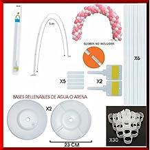 Estructura para Arco DE Globos 5 Metros con Soportes Adhesivos + 2 Bases RELLENABLES DE Agua