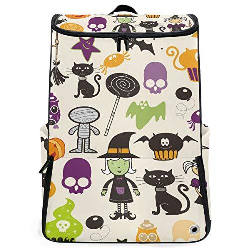 FANTAZIO Laptop-Rucksack Hexe und Zauberer, langlebig, für Schule und Schule, für Outdoor, Camping, passend für bis zu Notebook