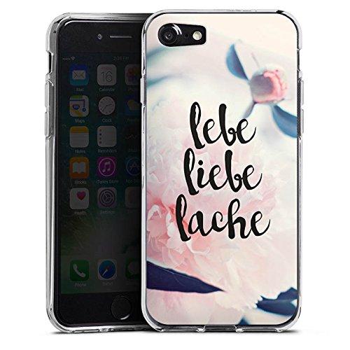 Apple iPhone X Silikon Hülle Case Schutzhülle Love Lebe Liebe Lache Blumen Silikon Case transparent