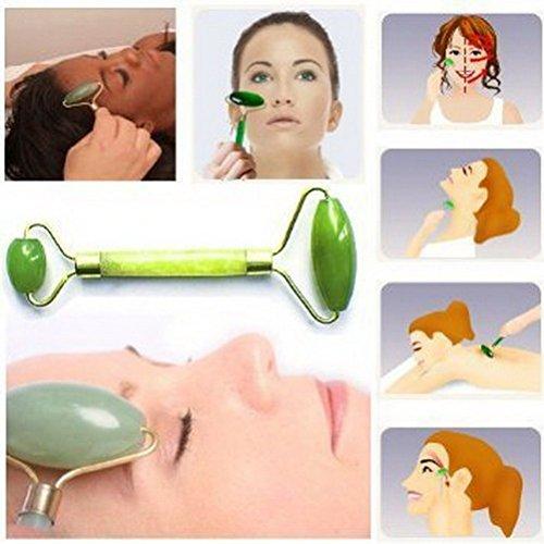 Philna12Rodillo de masaje facial para mujer  incluye piedras de jade natural