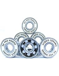 RS Pro Riders 608 2RS ABEC 9 Lot de 4roulements de roue en céramique Largeur 8 x 22 x 7mm Pour roller hockey derby skateboard trottinette