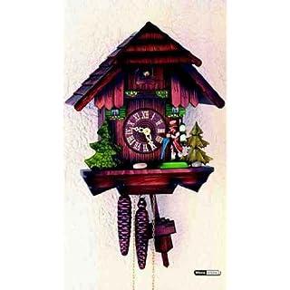 Original Schwarzwälder Chalet Kuckucksuhren Kuckucksuhr 1-Tag-Uhrwerk Chalet-Stil 30cm von Hekas