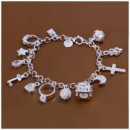 0de20fa63e7c joyliveCY-Unique Fashion 925 ba ado en plata joyas pulsera de cadena ...