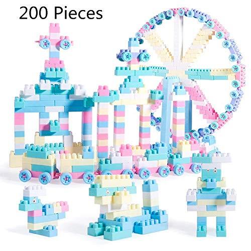 Jiaxingo 220 Stücke Bausteine   Spielzeug Set Pädagogische Bausteine   3D Puzzles DIY Kreative Lernspielzeug mit Kunststoff Aufbewahrungsbox für Kinder