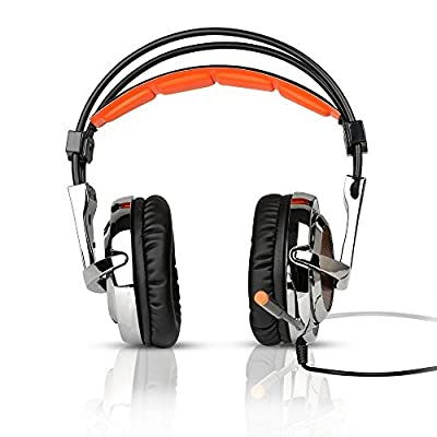 Sades SA-928 Professional Gaming Cuffie Headset sopra l'orecchio Archetto con Controllo del Volume Microfono ad Alta sensibilità per PC Laptop PS3 Xbox360
