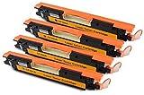 Bubprint 4 Toner kompatibel für HP CF350A CF351A CF352A CF353A 130A für Color Laserjet Pro MFP M170 Series M176N M177FW Schwarz Cyan Magenta Gelb