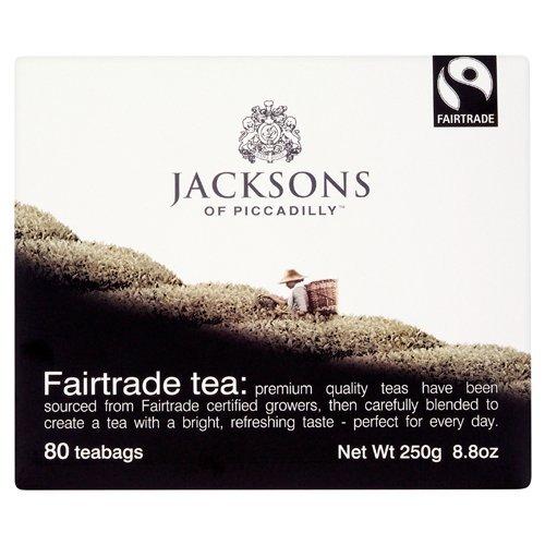 Jacksons Fairtrade Tea Bags, 250g, 80 tea bags