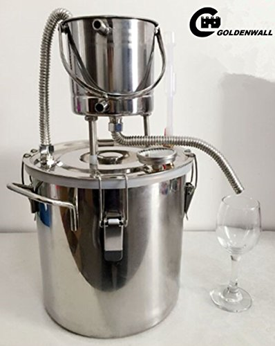 Cgoldenwall Small Household 304 stainless steel DIY Cooler \ alcol  distillazione \ vino fermentazione \ Idrosol macchina acqua distillazione \  vino