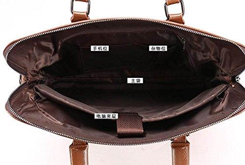Männer Schultertasche Kreuz Abschnitt High Grade Handtasche Classic Stone Pattern Business Bag Computer Tasche C