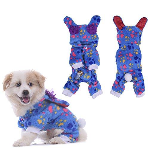 WIDEN Hundepyjamas Katze kleidet Overalls mit Kapuze Freizeit-Abnutzung vier-Füße Haustier-warme Kleidung