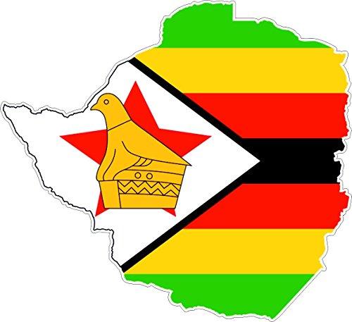 Preisvergleich Produktbild Selbstklebend Wandtattoo Sticker, Auto Vinyl Flagge Karte Simbabwe