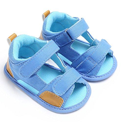 Baby Schuhe, Morbuy Sommer Fashion Unisex Sandalen Neugeborene 0-18 Monate Anti-Rutsch Weiche Alleinige Kleinkind Schuhe Krabbelschuhe Wanderer Weiche Alleinige Schuhe (11cm, Hellblau)