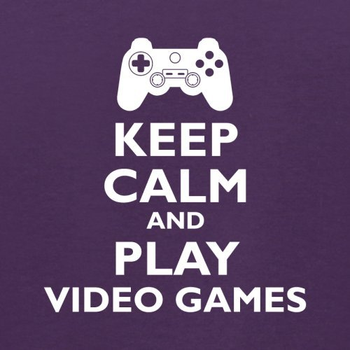 Keep Calm and Play Video Games - Herren T-Shirt - 13 Farben Lila