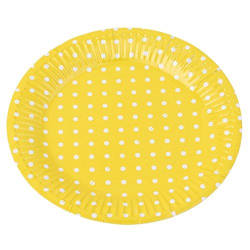 51is0RPXrSL - yinew Pappteller 17,8cm Party Teller Langlebig Teller Pappteller 10PCS Party Teller für Geburtstag, Party, Hochzeit, Papier, gelb, Siehe Produktbeschreibung
