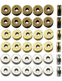 b9375b8a71a3 Abalorio espaciador suelto de plata envejecida y bronce dorado mezclado