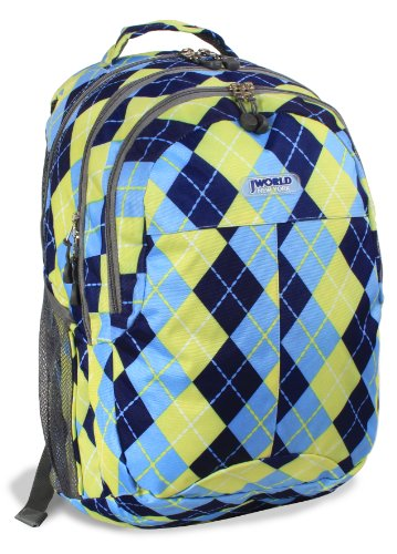 J World New York Cornelia Laptop Backpack Rucksack, 19 cm, 29.5 liters, Mehrfarbig (Argyle Navy) -