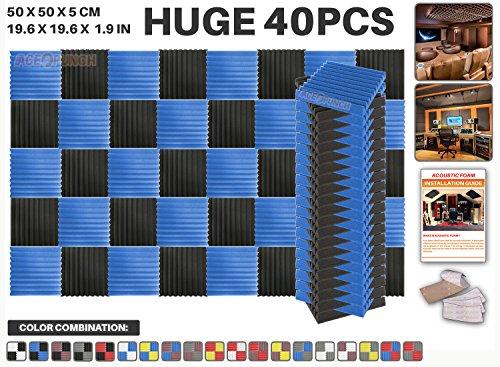 ace-punch-40-pieces-bleu-et-noir-wedge-studio-foam-panel-isolation-sonore-traitement-acoustique-isol