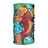 Pengyong Colorful Koi Fisch Malerei Unisex Fashion Schnelltrocknend Mikrofaser Kopfschmuck Outdoor Magic Schal Hals Hals Schal Kapuzen Schal Super Soft Griff