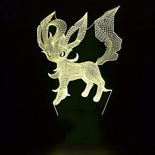 Dwthh Bunte Visuelle Geführte Haustier-Foxkatzen-Nachtlichter Der Tabelle 3D Leuchtende Karikatur-Form-Usb-Schlafzimmer-Schlaf-Beleuchtungs-Dekor-Leuchte (Tabelle Haustier)
